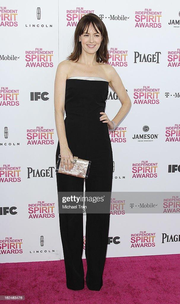 Rosemarie DeWitt arrives at the 2013 Film Independent Spirit Awards held on February 23, 2013 in Santa Monica, California.