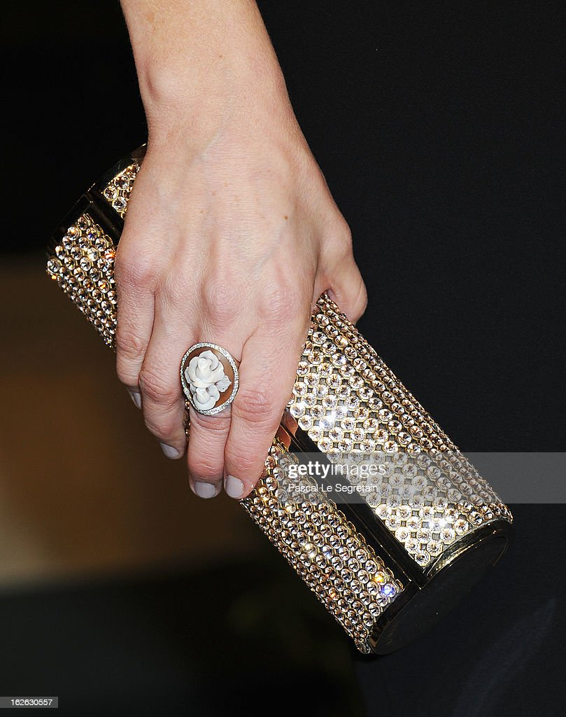 Rosemarie DeWitt (clutch detail) arrives at the 2013 Vanity Fair Oscar Party hosted by Graydon Carter at Sunset Tower on February 24, 2013 in West Hollywood, California.