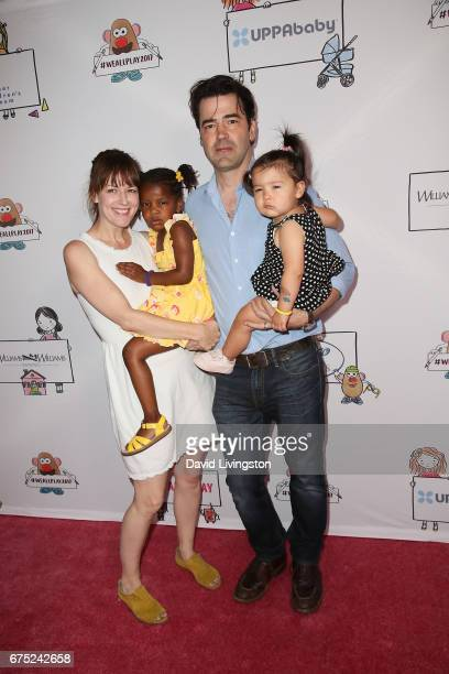 Rosemarie DeWitt Gracie James Livingston Ron Livingston and Esperanza Mae Livingston attend the WE ALL PLAY FUNdraiser hosted by the Zimmer...