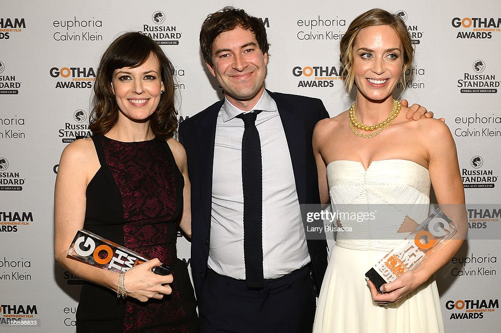 Rosemarie DeWitt, Mark Duplass, and Emily Blunt attend the IFP's 22nd Annual Gotham Independent Film Awards at Cipriani Wall Street on November 26, 2012 in New York City.