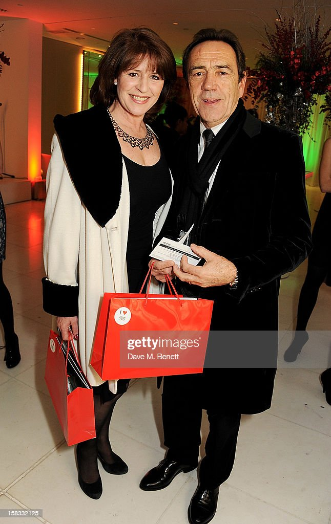 Rosemarie Ford (L) and Robert Lindsay attend the English National Ballet Christmas Party at St Martins Lane Hotel on December 13, 2012 in London, England.