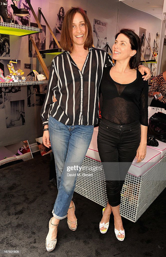 Rosemary Chapman and <a gi-track='captionPersonalityLinkClicked' href=/galleries/search?phrase=Sadie+Frost&family=editorial&specificpeople=201927 ng-click='$event.stopPropagation()'>Sadie Frost</a> attends the Terry de Havilland Store Opening at 8 Ganton Street on April 25, 2013 in London, England.