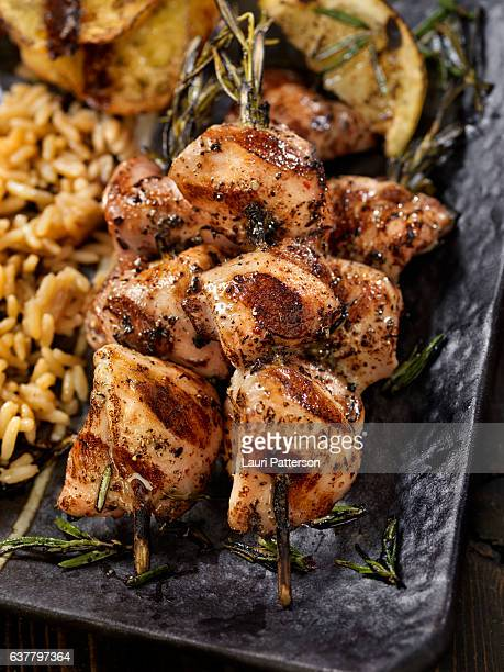 BBQ, Rosemary Chicken Skewers