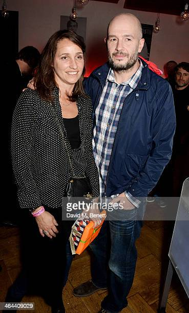 Rosemary Ferguson and Jake Chapman attend an after party following Roundhouse ambassador Sadie Frost's performance with FUERZABRUTA at The Roundhouse...