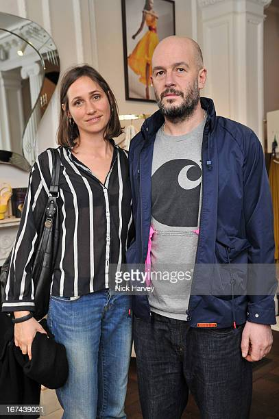 Rosemary Ferguson and Jake Chapman attend the Frocks and Rocks party hosted by Alice Temperley and Jade Jagger on April 25 2013 in London England