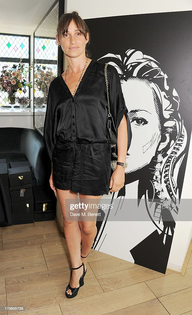 Rosemary Ferguson attends a first look at a new range of tech accessories for Carphone Warehouse, designed exclusively by Kate Moss for the high street brand, at The Club at The Ivy on July 18, 2013 in London England. The range of smartphone and tablet accessories goes on sale nationwide later this month.
