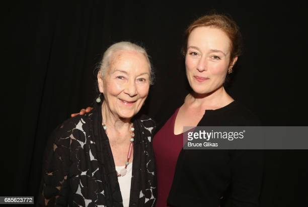 Rosemary Harris and daughter Jennifer Ehle pose at the 2017 Drama League Awards Luncheon at The Marriott Marquis Times Square on May 19 2017 in New...