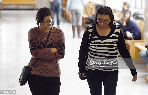 Rosemary Hernandez is accompanied by her daughter Becky as she return to a court in New York on January 30 2015 during a trial of her husband Pedro...
