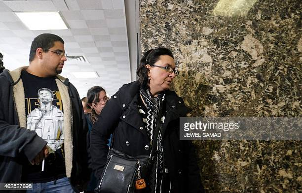 Rosemary Hernandez leaves a court in New York on January 30 2015 at the lunch break of a trial of her husband Pedro Hernandez who is accused of...