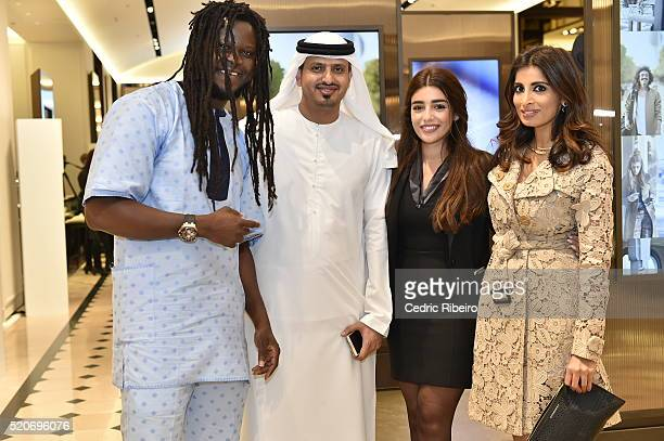 'DUBAI UNITED ARAB EMIRATES APRIL 12 Rosemin Manji and guests at the Burberry Art of the Trench Middle East event at Mall of the Emirates on April 12...