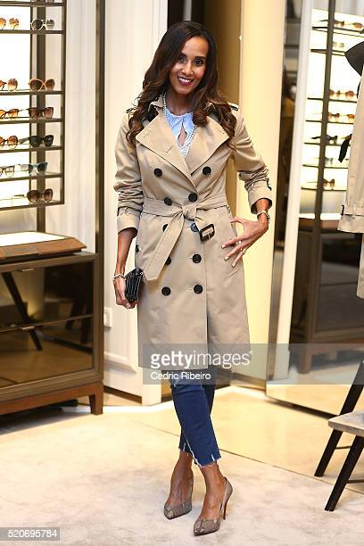 'DUBAI UNITED ARAB EMIRATES APRIL 12 Rosemin Manji at the Burberry Art of the Trench Middle East event at Mall of the Emirates on April 12 2016 in...