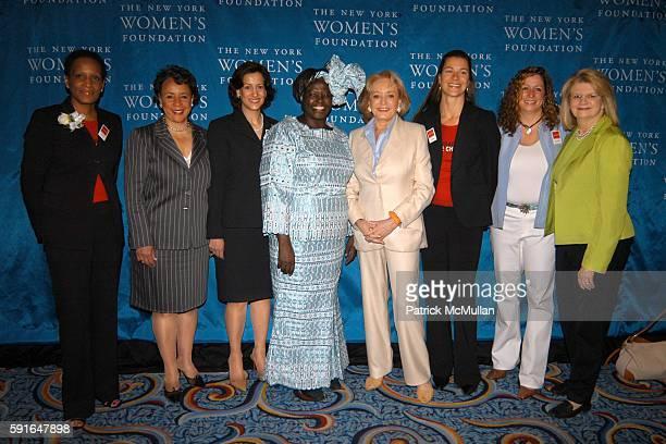 Rosemonde PierreLouis Shelia Johnson Barbara Wynne Dr Wangari Maathai Barbara Walters Brooke Beardslee Geraldine Laybourne and Abby Disney attend The...