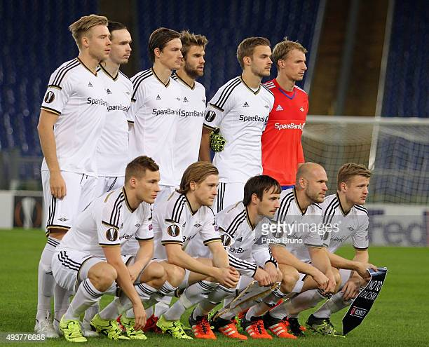 Rosenborg BK team poses during the UEFA Europa League group G match between SS Lazio and Rosenborg BK at Stadio Olimpico on October 22 2015 in Rome...