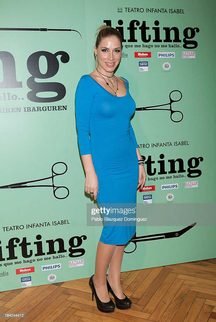Roser attends the 'Lifting' premiere at Infanta Isabel Theatre on March 21, 2013 in Madrid, Spain.