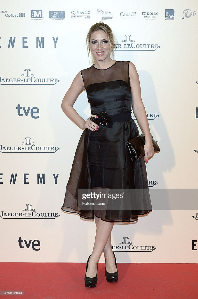 Roser attends the premiere of 'Enemy' at Palafox Cinema on March 20, 2014 in Madrid, Spain.