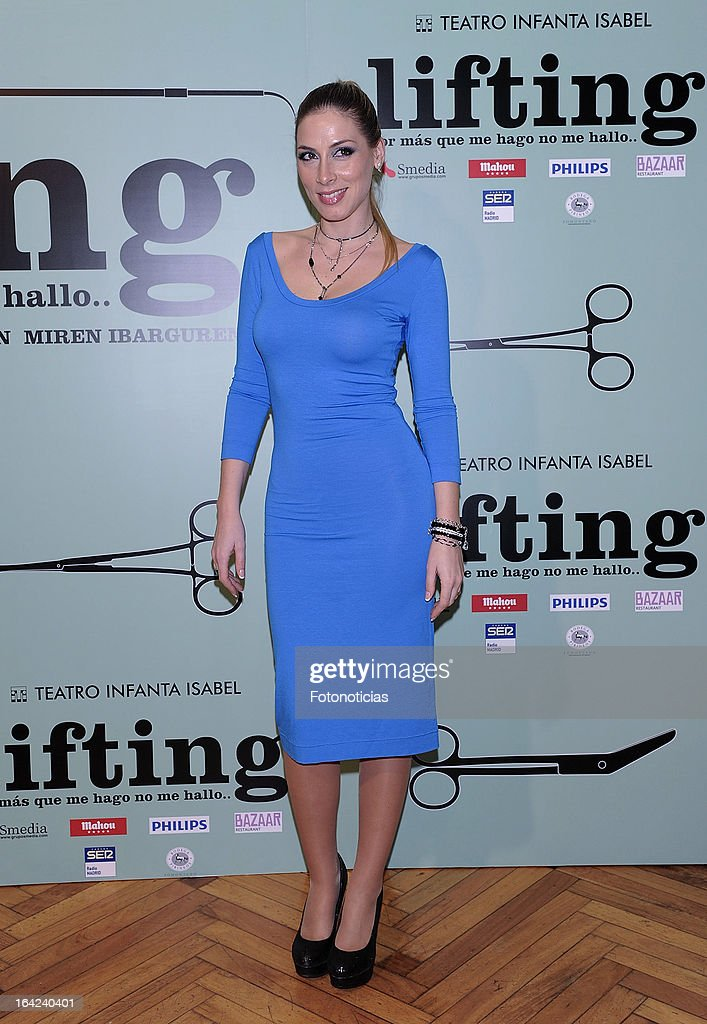 Roser attends the premiere of 'Lifting' at the Infanta Isabel theatre on March 21, 2013 in Madrid, Spain.