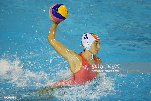 Roser Tarrago of Spain in action during the Women's Water Polo Semifinal Round between Spain and Hungary during day twelve of the 15th FINA World...