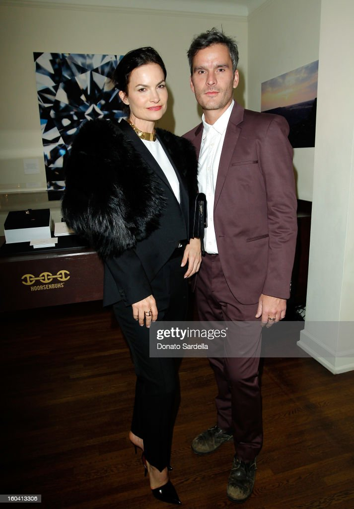 Rosetta Getty and Balthazar Getty attend Hoorsenbuhs for Forevermark Collection cocktail party at Chateau Marmont on January 30, 2013 in Los Angeles, California.