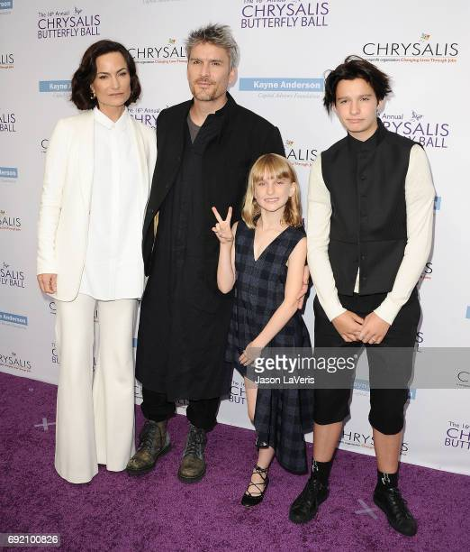 Rosetta Getty and Balthazar Getty with children Violet Getty and June Getty attend the 16th annual Chrysalis Butterfly Ball on June 3 2017 in...