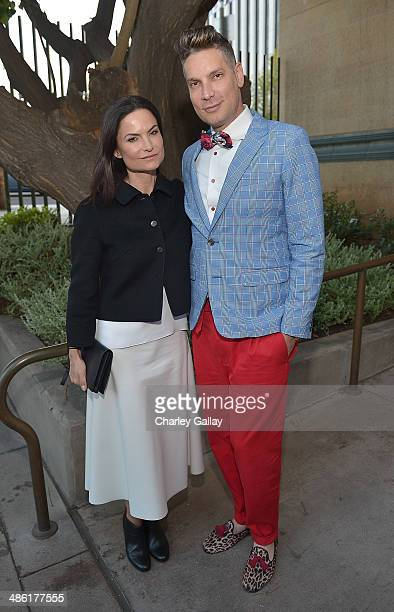 Rosetta Getty and Cameron Silver attend David Webb And Fashion At LACMA on April 22 2014 in Los Angeles California