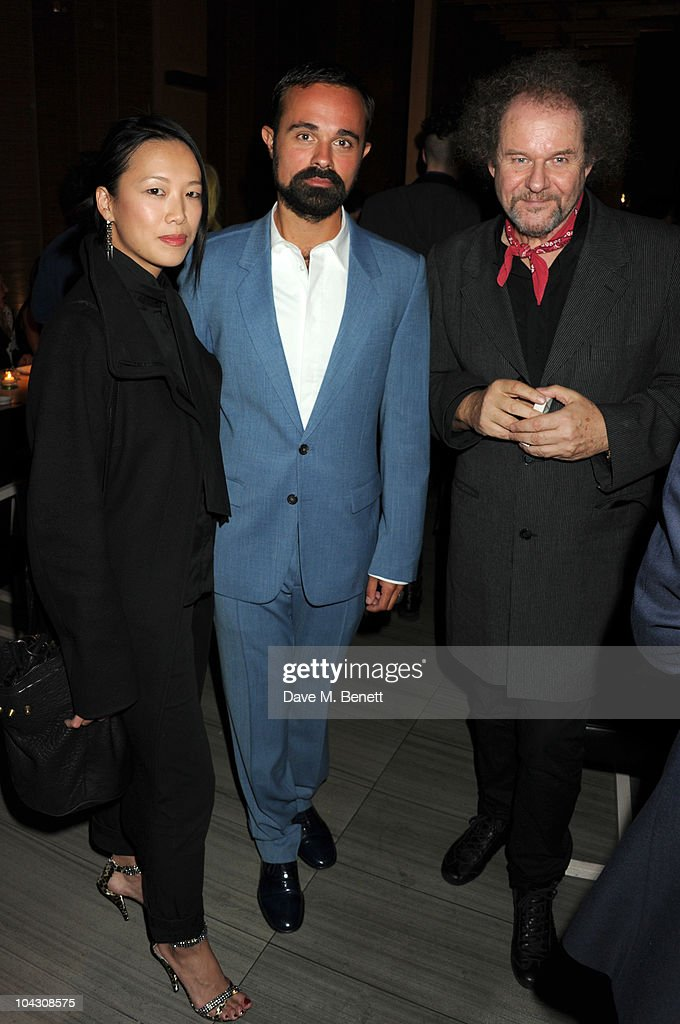 Rosey Chan, Evgeny Lebedev and Mike Figgis attend private dinner hosted by AnOther Magazine to celebrate the latest cover star Bjork at Sake No Hana on September 20, 2010 in London, England.