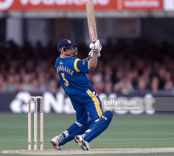 Roshan Mahanama batting for Sri Lanka during the World Cup group match between England and Sri Lanka at Lord's Cricket Ground London 14th May 1999
