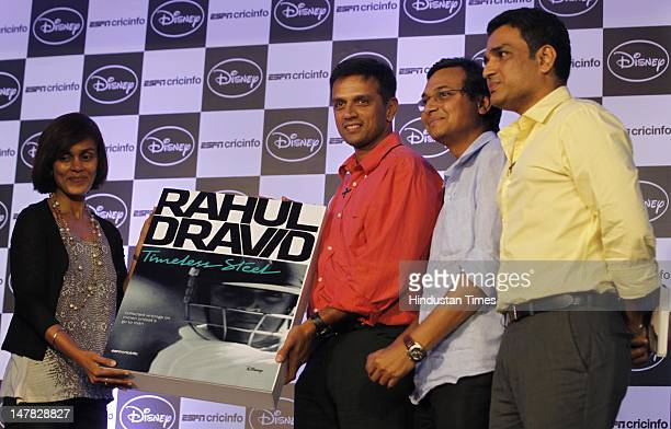 Roshini Bakshi Managing Director Consumer Products Publishing and Retail Disney UTV Indian cricketer Rahul Dravid Sambit Bal EditorinChief Crickinfo...