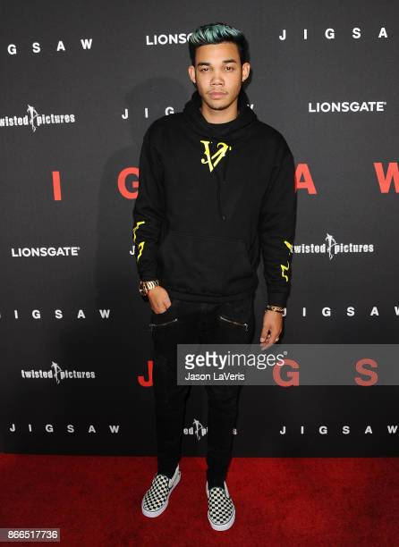 Roshon Fegan attends the premiere of 'Jigsaw' at ArcLight Hollywood on October 25 2017 in Hollywood California