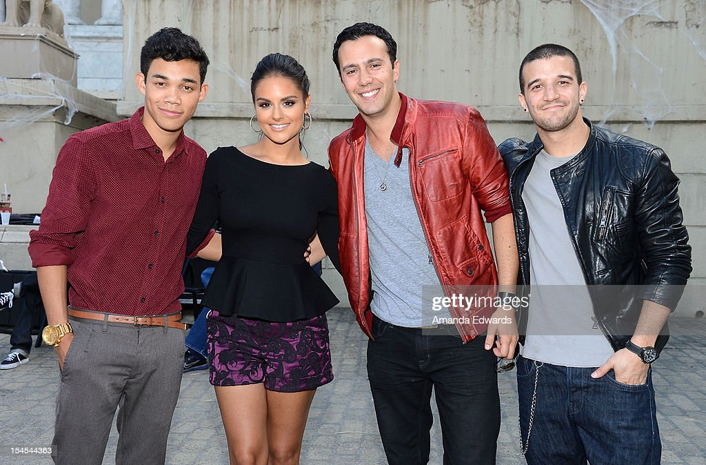 <a gi-track='captionPersonalityLinkClicked' href=/galleries/search?phrase=Roshon+Fegan&family=editorial&specificpeople=4896999 ng-click='$event.stopPropagation()'>Roshon Fegan</a>, <a gi-track='captionPersonalityLinkClicked' href=/galleries/search?phrase=Pia+Toscano&family=editorial&specificpeople=7520948 ng-click='$event.stopPropagation()'>Pia Toscano</a>, Jared Lee and <a gi-track='captionPersonalityLinkClicked' href=/galleries/search?phrase=Mark+Ballas&family=editorial&specificpeople=4531129 ng-click='$event.stopPropagation()'>Mark Ballas</a> attend the Camp Ronald McDonald For Good Times 20th Annual Halloween Carnival at Universal Studios Backlot on October 21, 2012 in Universal City, California.