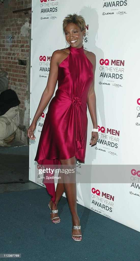 Roshumba Williams during 2002 GQ Men of the Year Awards - Press Room at Hammerstein Ballroom in New York City, New York, United States.