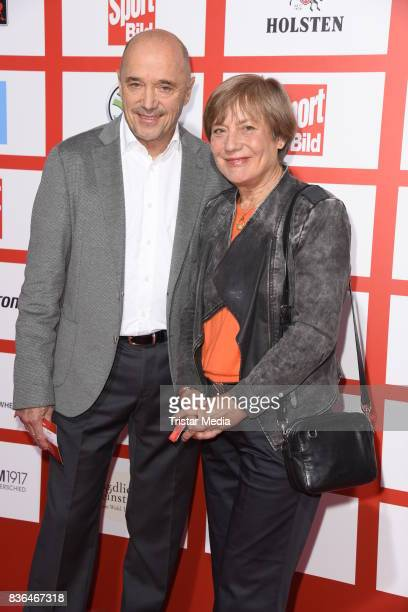 Rosi Mittermaier and her husband Christian Neureuther attend the Sport Bild Award on August 21 2017 in Hamburg Germany
