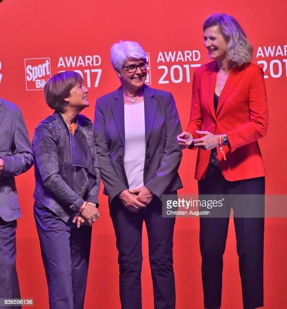 Rosi Mittermaier Heide EckerRosendahl and Heike Henkel attend the Sport Bild Award at the Fischauktionshalle on August 21 2017 in Hamburg Germany