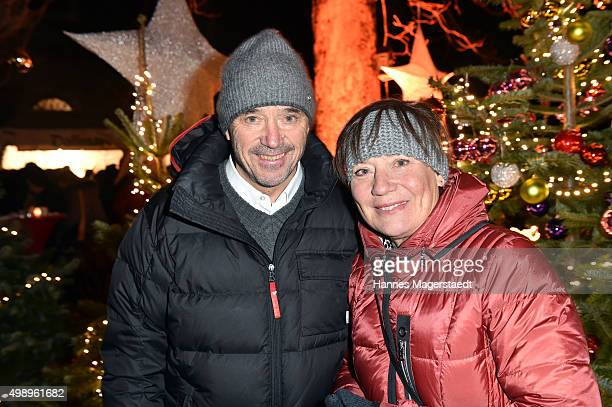Rosi MittermaierNeureuther and Christian Neureuther during the 20th BMW advent charity concert at Jesuitenkirche St Michael on November 27 2015 in...
