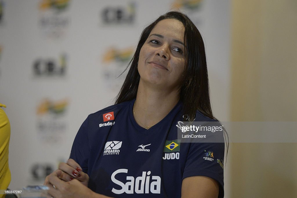 Rosicleia Campos looks on during the first official training season of the team, who will represent Brazil in the Olympic Games Rio 2016, at Maria Lenk Aquatic Center on January 29, 2013 in Rio de Janeiro, Brazil.