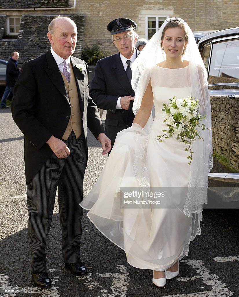 Rosie Bradford arrives at the Church of St. Peter and St. Paul on October 23, 2010 in Northleach near Cheltenham, England.