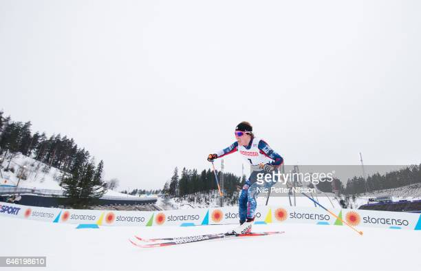 Rosie Brennan of USA during the women's cross country distance during the FIS Nordic World Ski Championships on February 28 2017 in Lahti Finland