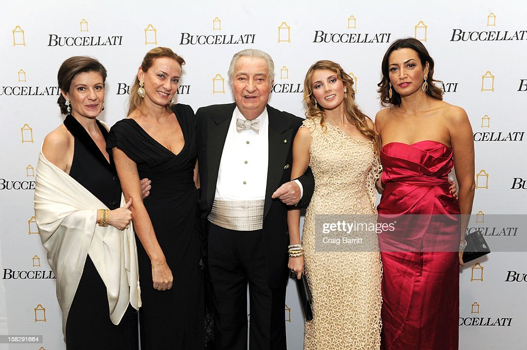 Rosie Buccellati, Cristina Buccellati, Gianmaria Buccellati, Lucrezia Buccellati and Maria Buccellati attend the TPC for the 2012 La Fondazione La Notte Gala Celebrating 60 years Of Excellence In the USA For Buccellati at Industria Studios on December 12, 2012 in New York City.