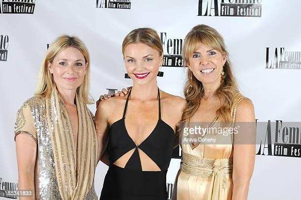 Rosie Fellner Izabella Miko and Julia Verdin arrive at the 9th annual La Femme International Film Festival hosting a red carpet for '2 Jacks' at...