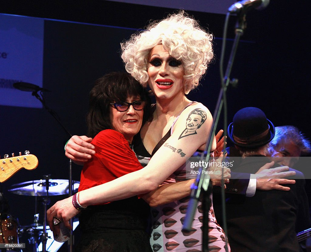 Rosie Flores and <a gi-track='captionPersonalityLinkClicked' href=/galleries/search?phrase=Sharon+Needles&family=editorial&specificpeople=8804153 ng-click='$event.stopPropagation()'>Sharon Needles</a> perform onstage at the Lou Reed Tribute during the 2014 SXSW Music, Film + Interactive Festival at Paramount Theatre on March 14, 2014 in Austin, Texas.