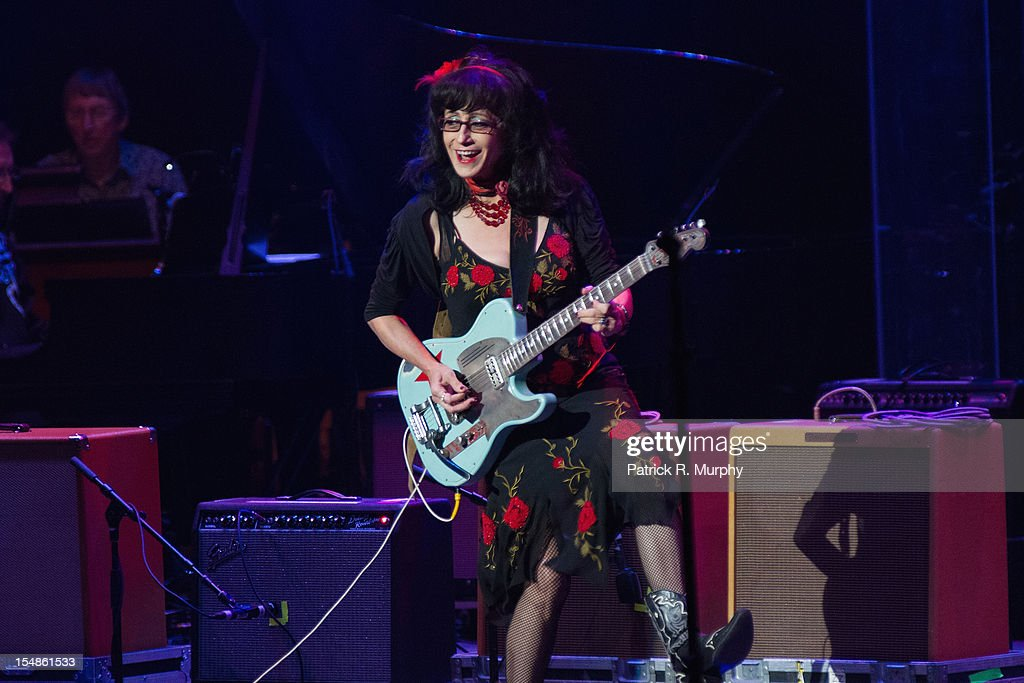 Rosie Flores performs during the Chuck Berry Tribute Concert at the State Theatre on October 27, 2012 in Cleveland, Ohio.