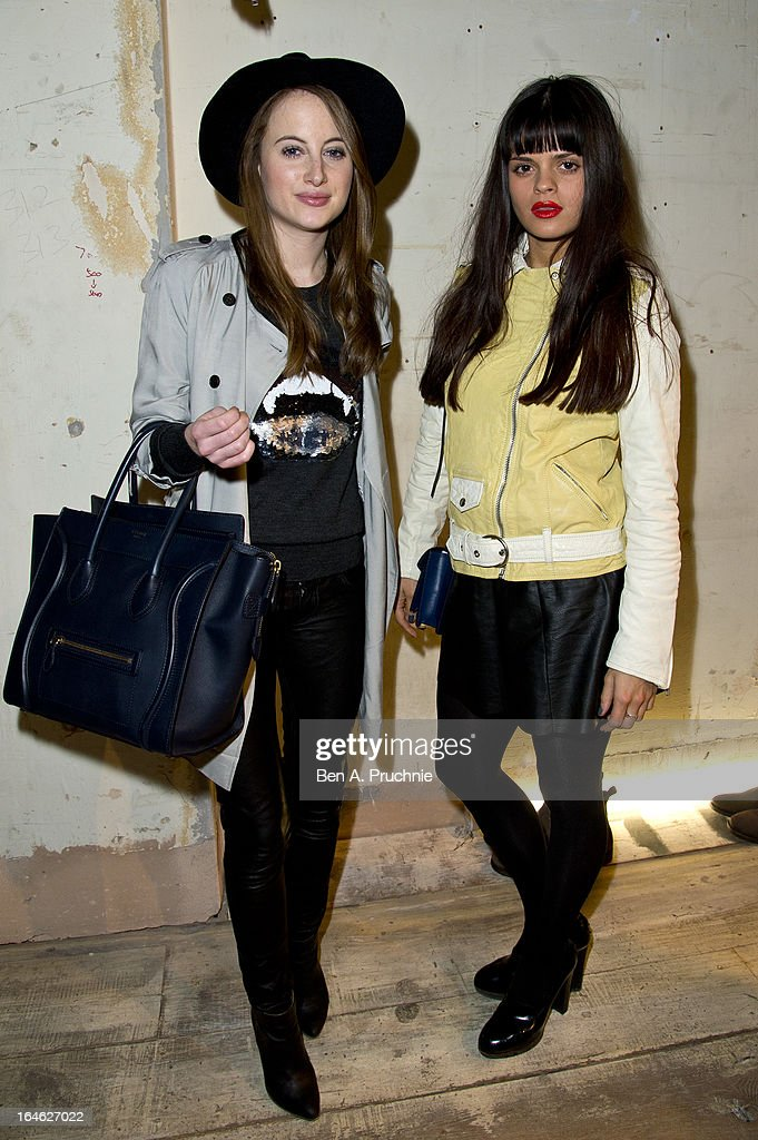 <a gi-track='captionPersonalityLinkClicked' href=/galleries/search?phrase=Rosie+Fortescue&family=editorial&specificpeople=7851088 ng-click='$event.stopPropagation()'>Rosie Fortescue</a> and <a gi-track='captionPersonalityLinkClicked' href=/galleries/search?phrase=Bip+Ling&family=editorial&specificpeople=5953668 ng-click='$event.stopPropagation()'>Bip Ling</a> attend AllSaints Biker Project - Series One at All Saints on March 25, 2013 in London, England.