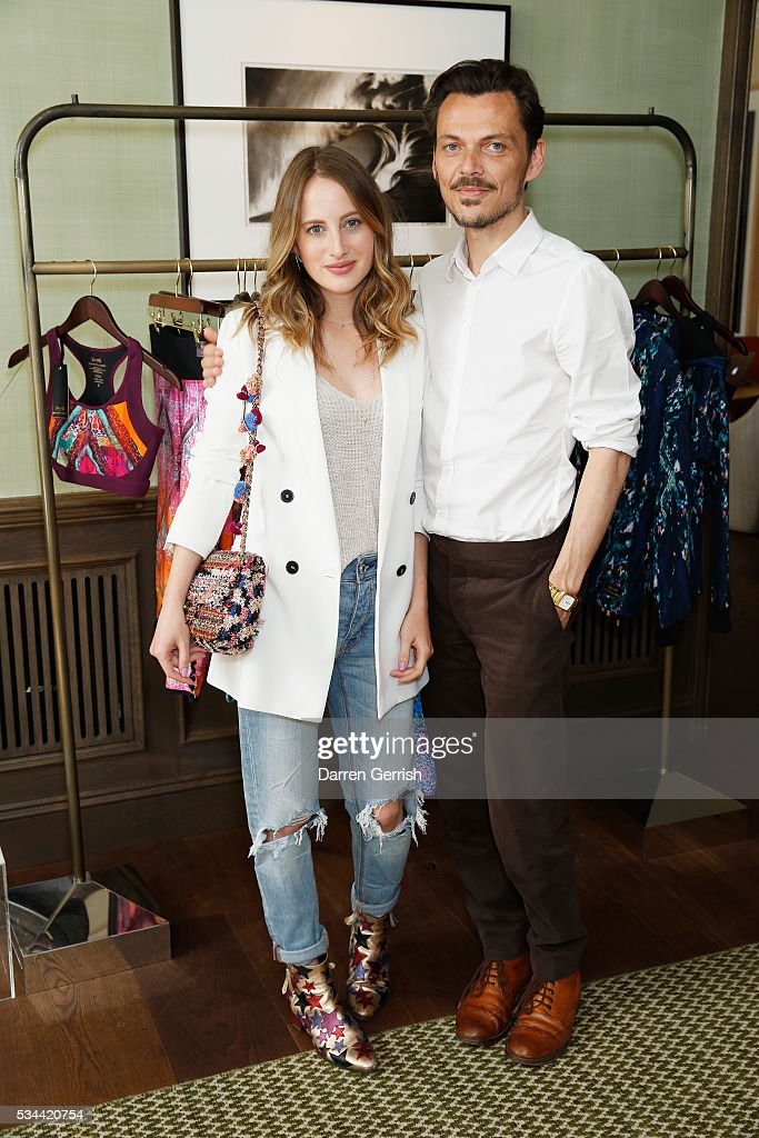 <a gi-track='captionPersonalityLinkClicked' href=/galleries/search?phrase=Rosie+Fortescue&family=editorial&specificpeople=7851088 ng-click='$event.stopPropagation()'>Rosie Fortescue</a> and Matthew Williamson attend the exclusive preview of the new USA Pro and Matthew Williamson yoga and active wear collaboration at the South Kensington Club on May 26, 2016 in London, England.