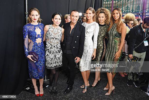 Rosie Fortescue Andrea Corr Julien MacDonald Millie Mackintosh Ella Eyre and Rochelle Humes attend the Julien MacDonald Spring/Summer 2016 Collection...
