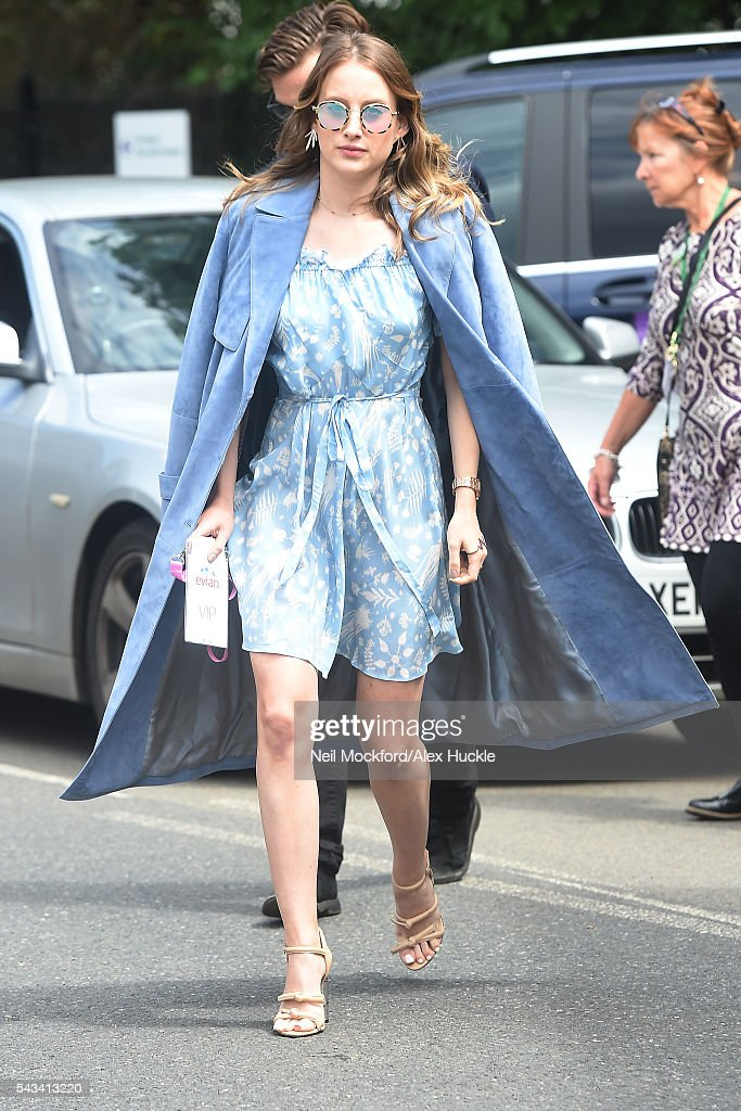 <a gi-track='captionPersonalityLinkClicked' href=/galleries/search?phrase=Rosie+Fortescue&family=editorial&specificpeople=7851088 ng-click='$event.stopPropagation()'>Rosie Fortescue</a> arrives for Day 2 of Wimbledon on June 28, 2016 in London, England.
