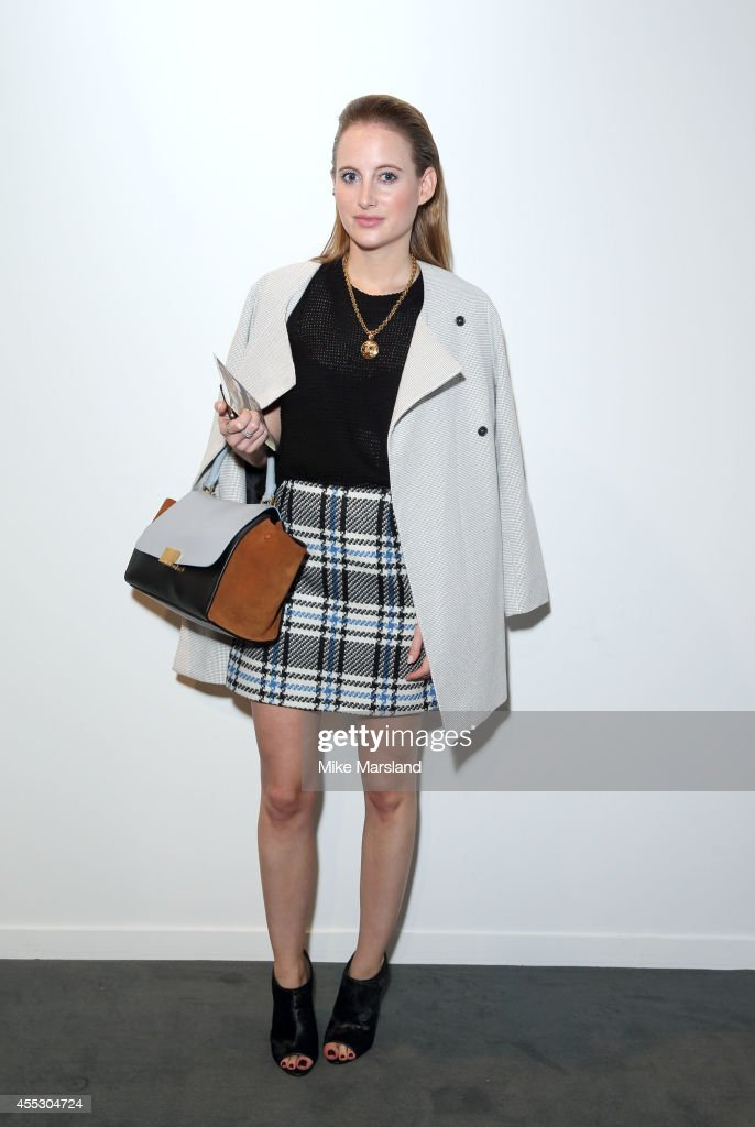 Rosie Fortescue attends the Bora Aksu show during London Fashion Week Spring Summer 2015 on September 12 2014 in London England