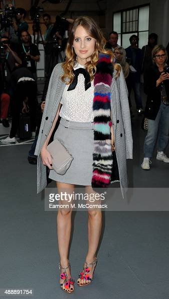 Rosie Fortescue attends the Bora Aksu show during London Fashion Week Spring/Summer 2016 on September 18 2015 in London England