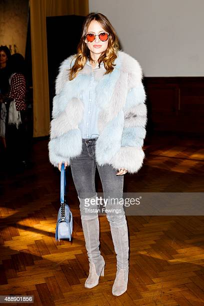 Rosie Fortescue attends the Daks show during London Fashion Week Spring/Summer 2016 on September 18 2015 held at Lindley Hall in London England