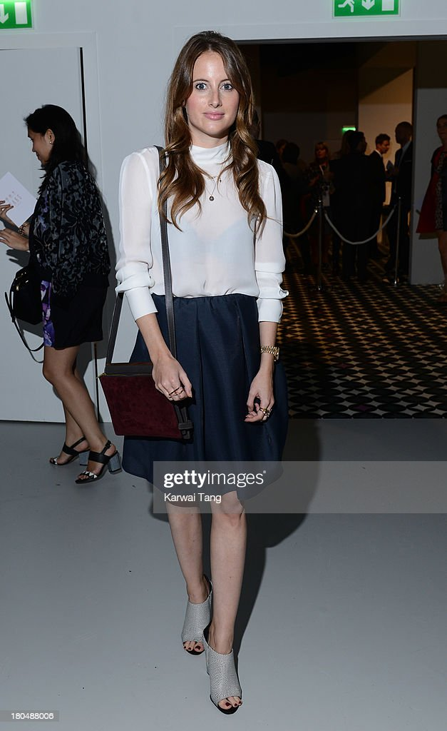 <a gi-track='captionPersonalityLinkClicked' href=/galleries/search?phrase=Rosie+Fortescue&family=editorial&specificpeople=7851088 ng-click='$event.stopPropagation()'>Rosie Fortescue</a> attends the DAKS show during London Fashion Week SS14 at BFC Courtyard Showspace on September 13, 2013 in London, England.
