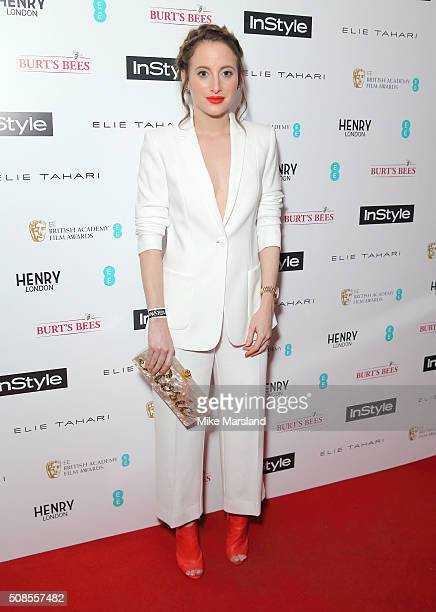 Rosie Fortescue attends the InStyle EE Rising Star PreBAFTA Party at 100 Wardour Street on February 4 2016 in London England