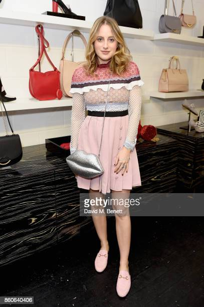 Rosie Fortescue attends the Lulu x Vaseline launch party at Lulu Guinness at Covent Garden on October 12 2017 in London England